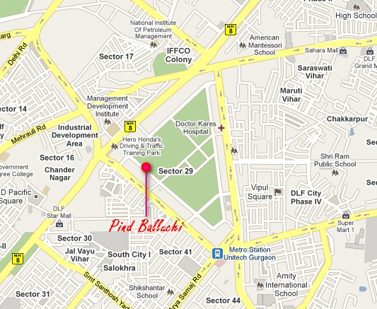 Pind Balluchi Map