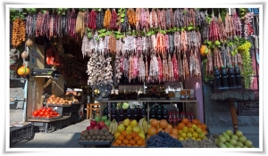 The dry fruit shop - Churchkela hanging
